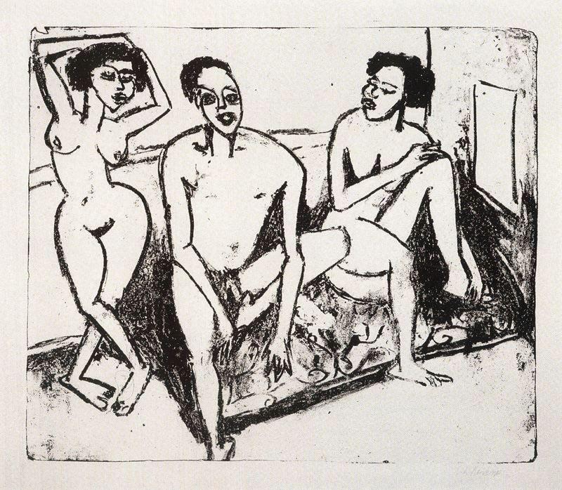 Ernst-Ludwig-Kirchner-Three-naked-niggers