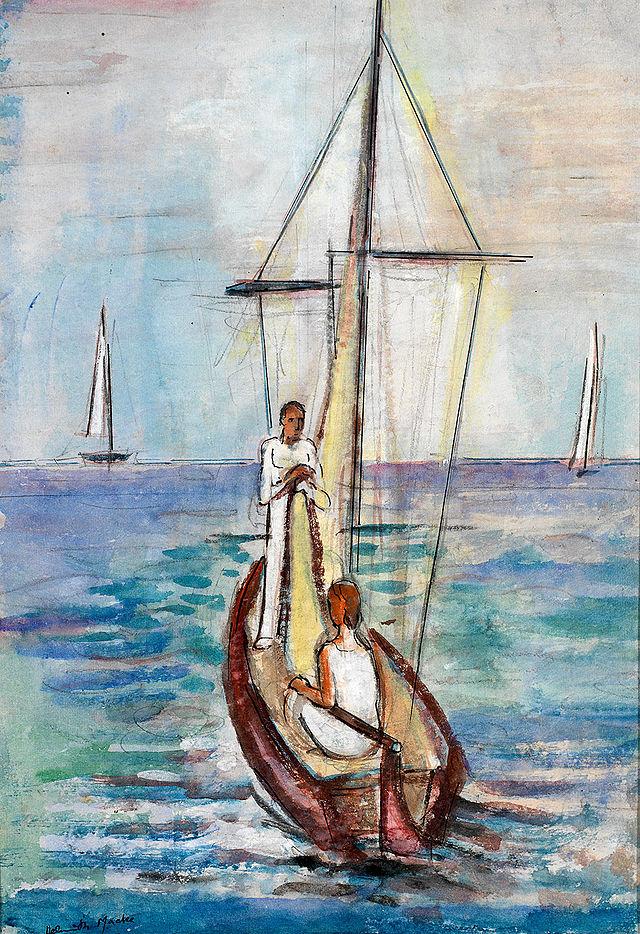 Helmuth_Macke_Segelboot_auf_dem_Bodensee_1934