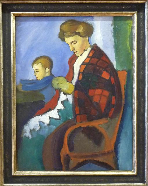 August Macke - Anni mit Walter (1912)