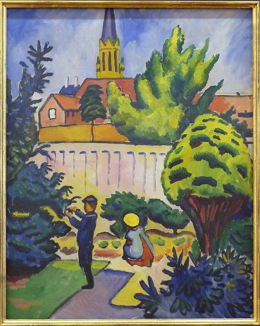 August Macke - Children in garden (1912)