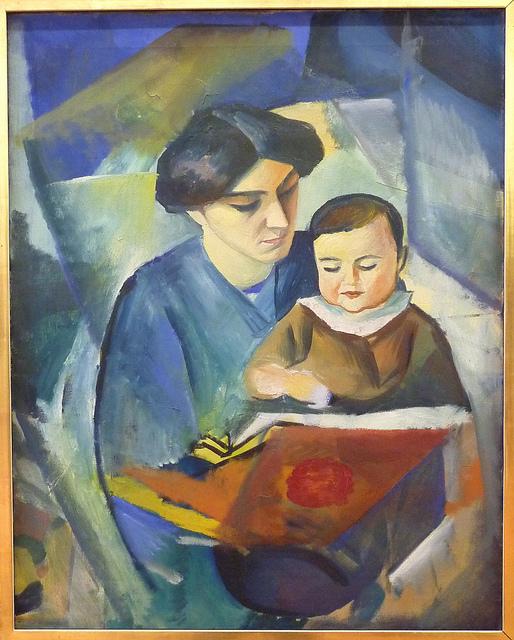 August Macke - Elisabeth & Walterchen (1) (1912)