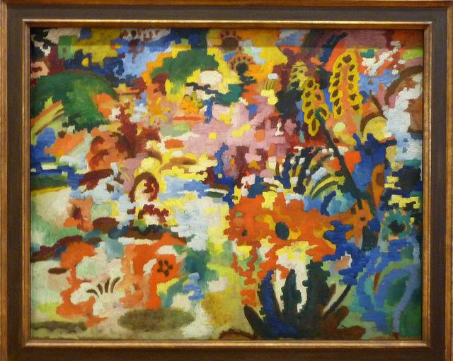 August Macke - Farbige Komposition II - Großer Blumenteppich (1912)