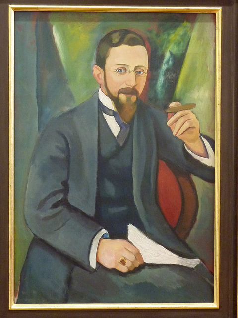 August Macke - Portrait of the author E A Greeven (1911)