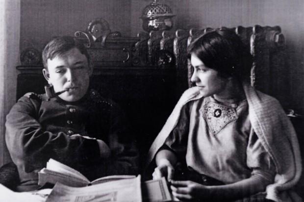August Macke mit seiner Frau Elisabeth im Jahr 1908