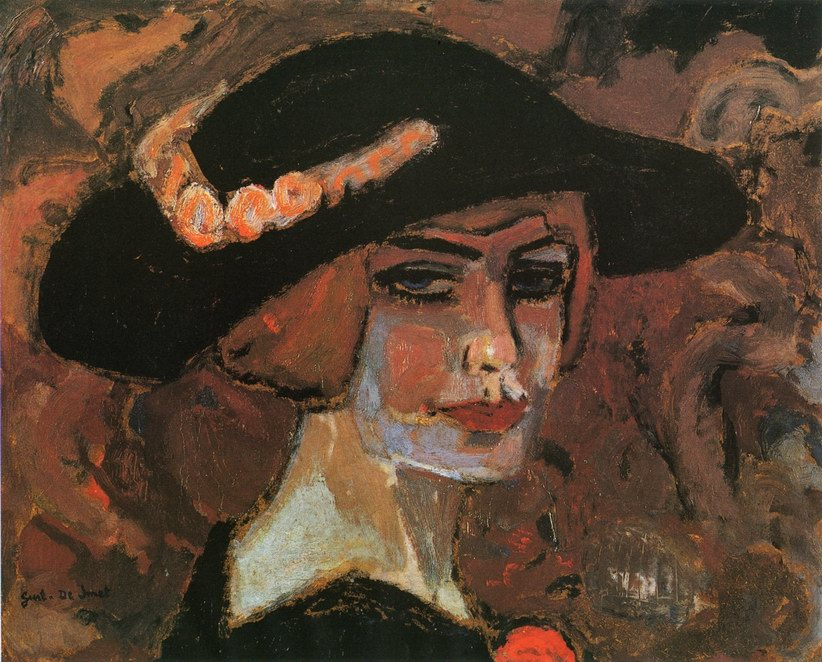 Leon-De-Smet-xx-Girl-wearing-a-Hat-xx-Private-Collection