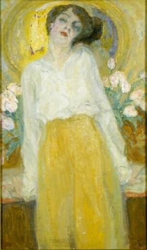 Frits van den Berghe (Belgian, 1883-1939) Lente. De actrice Stella van de Wiele (1887-1954), 1915
