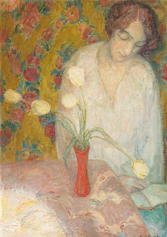 Frits van den Berghe (Belgian, 1883-1939) Lezen 1915
