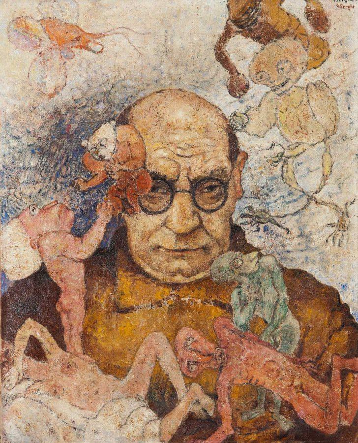 Frits van den Berghe (Belgian, 1883-1939) Self-Portrait 1933