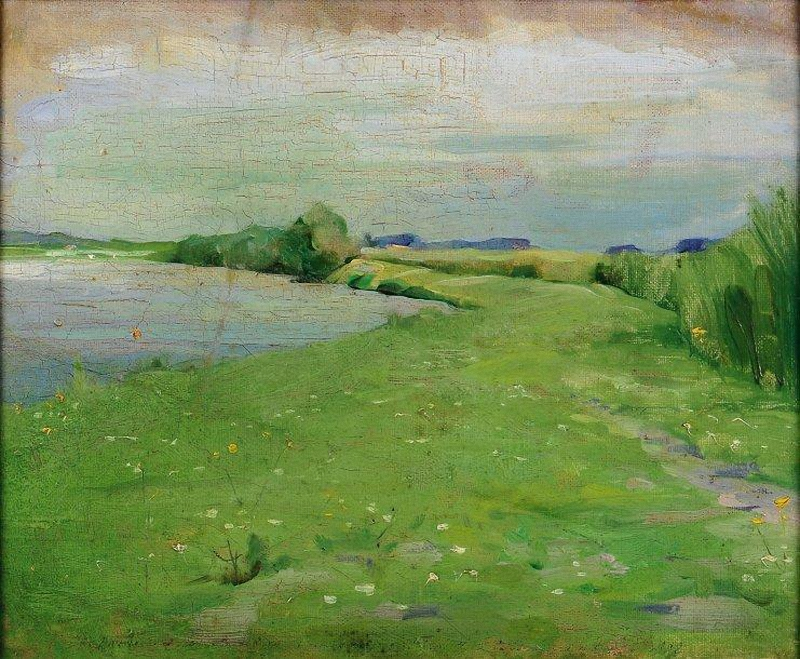 Frits van den Berghe La lys à lathem 1902
