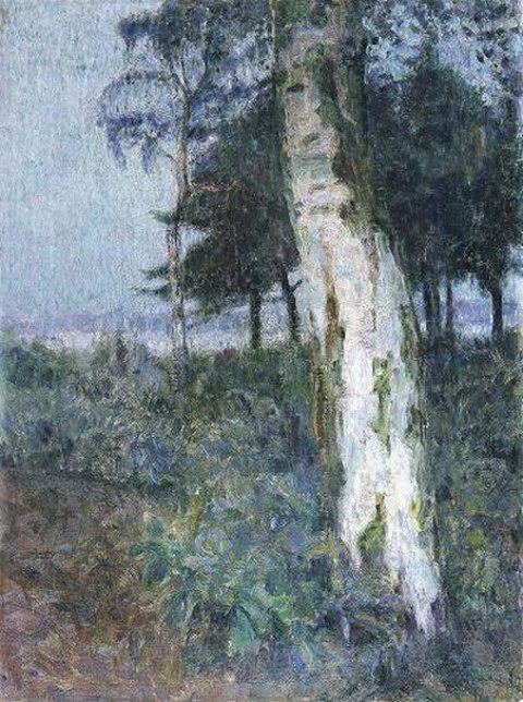 Frits van den Berghe Landschap bij avond 1910