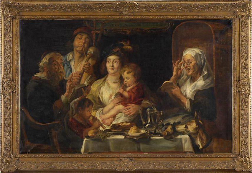 Frits van den Berghe Wie die alten Sungen, so zwitschern auch die Jungen (nach Jacob Jordaens)