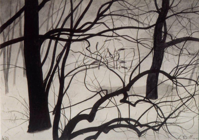 2. Jeunes pousses parmi les arbres (1933)