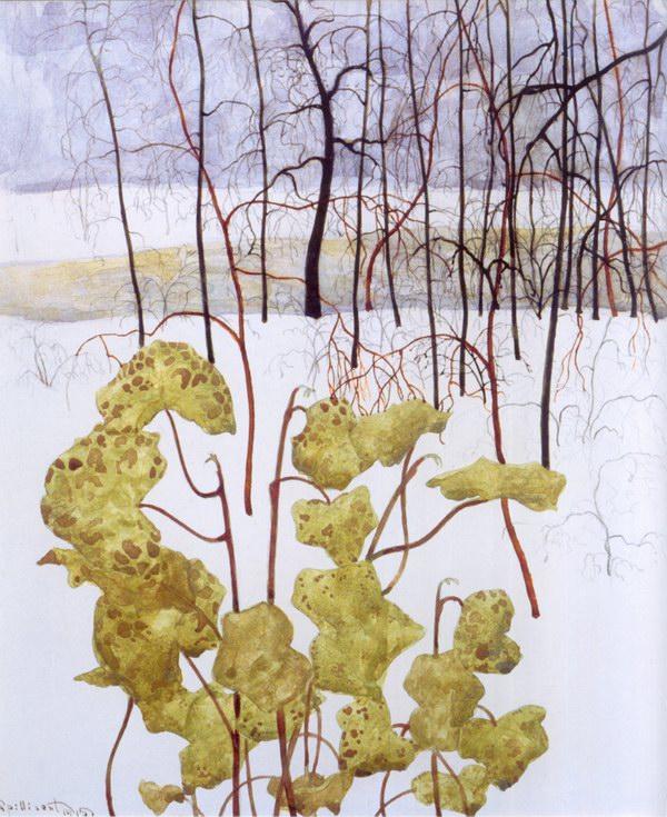 6. Paysage hivernal au lierre (1915)