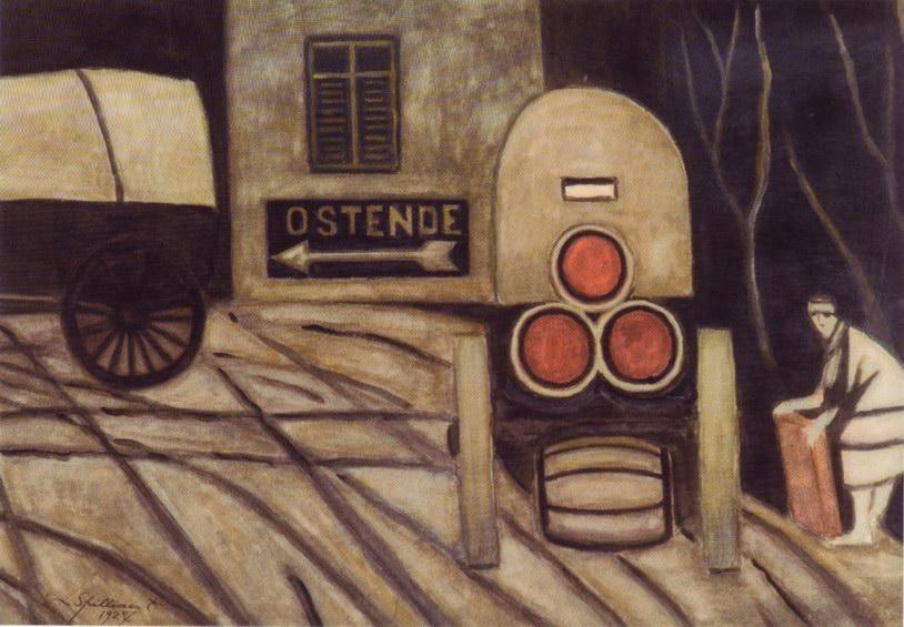Leon Spilliaert, The Barrel Cart, 1927