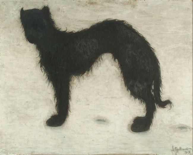 Leon Spilliaert-hien Dans La Neige (Dog In Snow)-1913