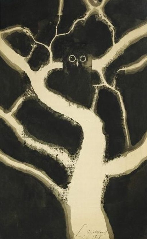 Leon Spilliaert-Hibou-1918