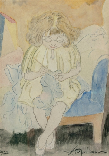 Madeleine Spilliaert, the daughter of the artist