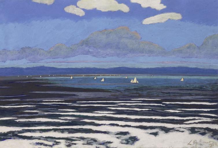 Seascape With White Sails (Paysage de mer avec des voiles blanches), 1922