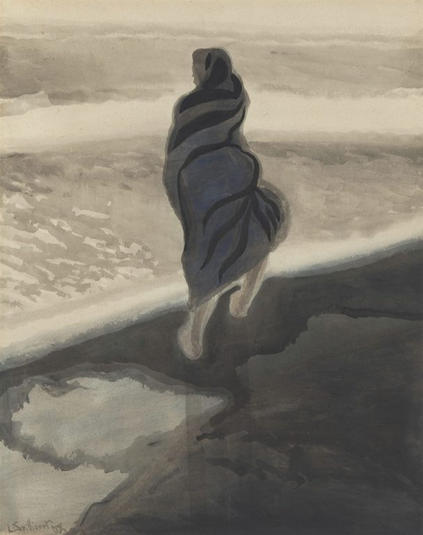Woman by the see, 1908