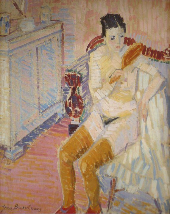 Jean Brusselmans - Femme a sa toilette