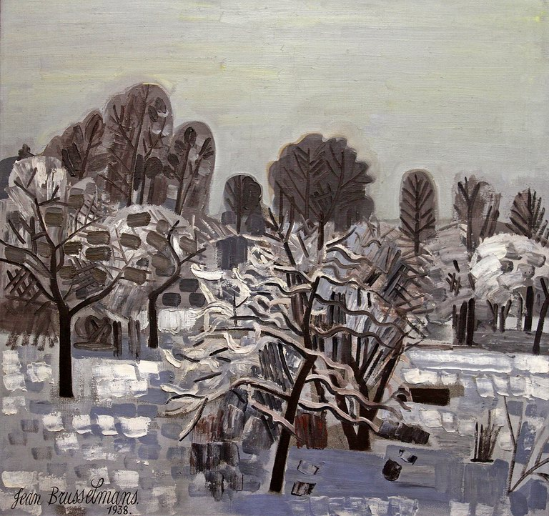 Snow-covered Dilbeek, 1938