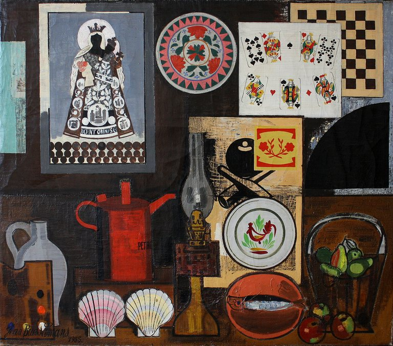 Still life with oil lamp, 1935