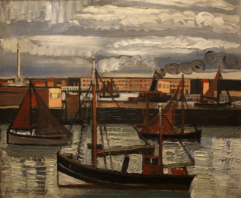 The channel at Ostend, 1936