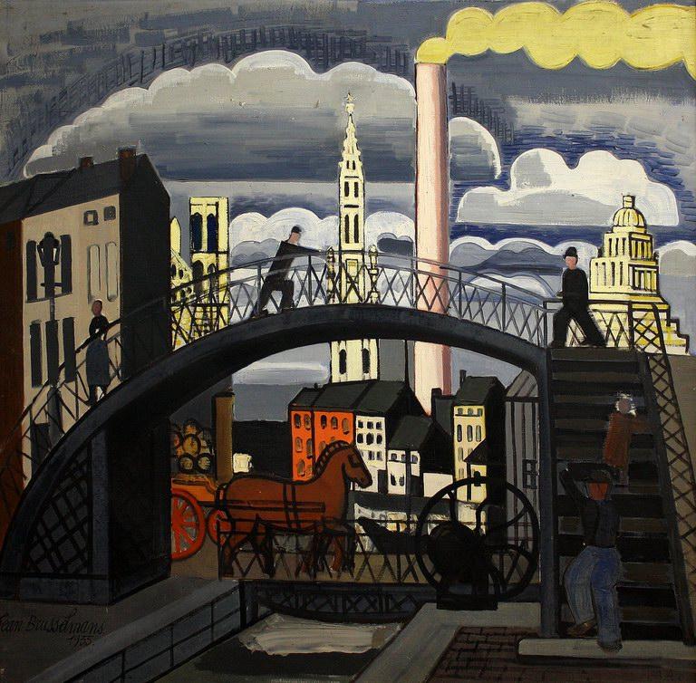 The foot-bridge, 1935