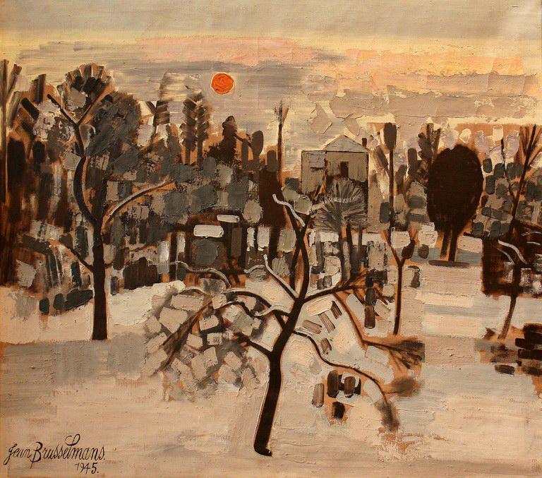 Winter in , 1945