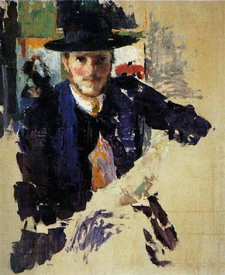 Self-portrait with black velvet jacket (1909)