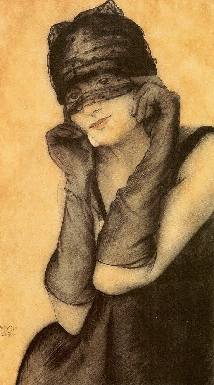 alter Sauer - Femme Voilée, 1919