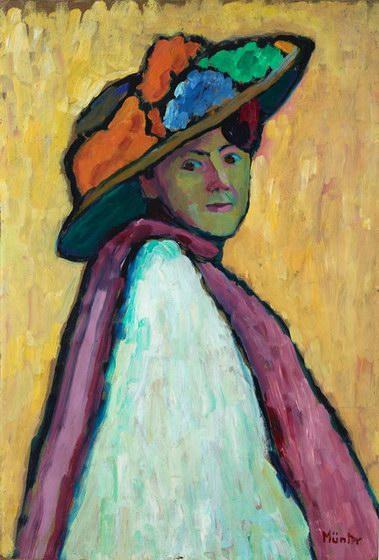 Gabriele Munter Portrait Of Marianne Von Werefkin-3