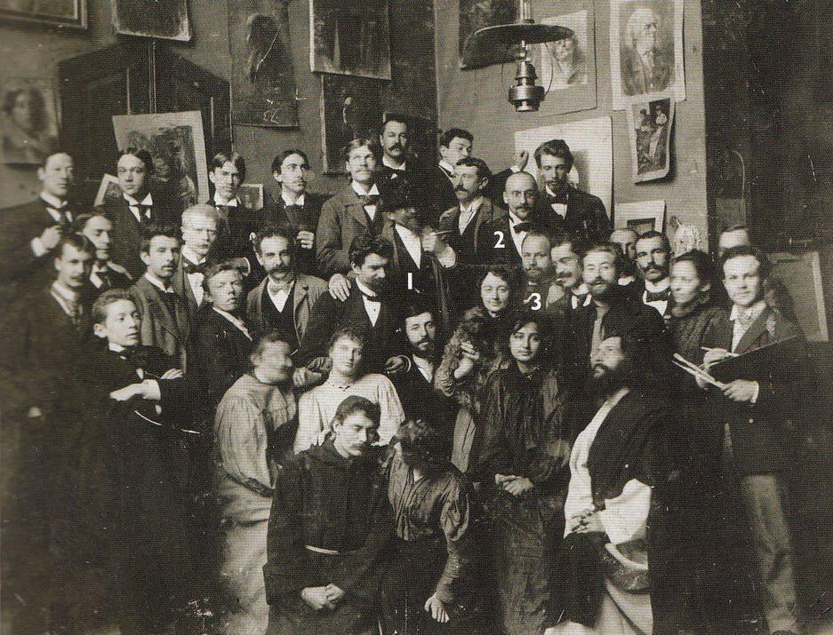 В Ателье Ажбе, 1897