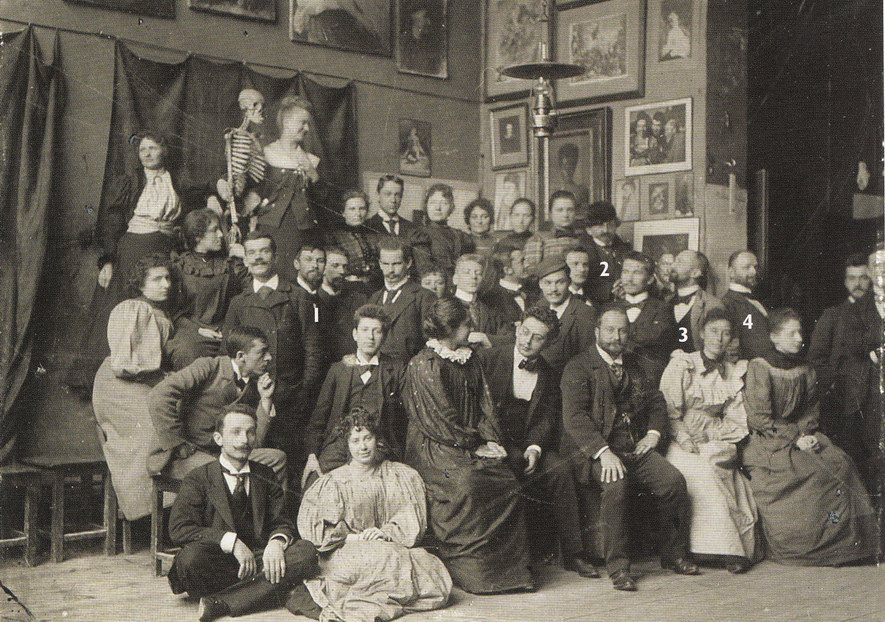 В Ателье Ажбе-2, 1897