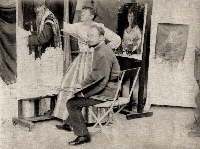 В Ателье вместе с Явленским, 1893
