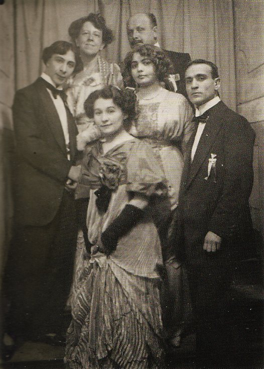 Танцор Александр Сахаров, Марианна Веревкина, Алексей Явленский и Елена Незнакомова, 1909