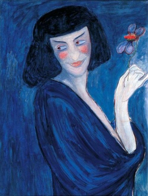 Марианна Владимировна фон Веревкина (1860-1936) Портрет танцовщика Александра Сахарова