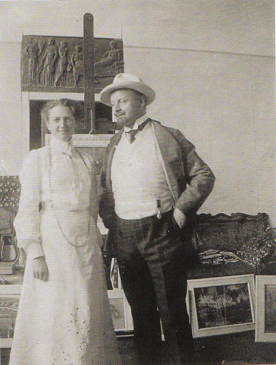 Явленский с дамой,1904