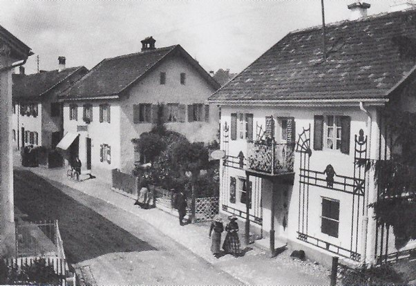 Улица в Мурнау, фото Габриель Мюнтер, 1909