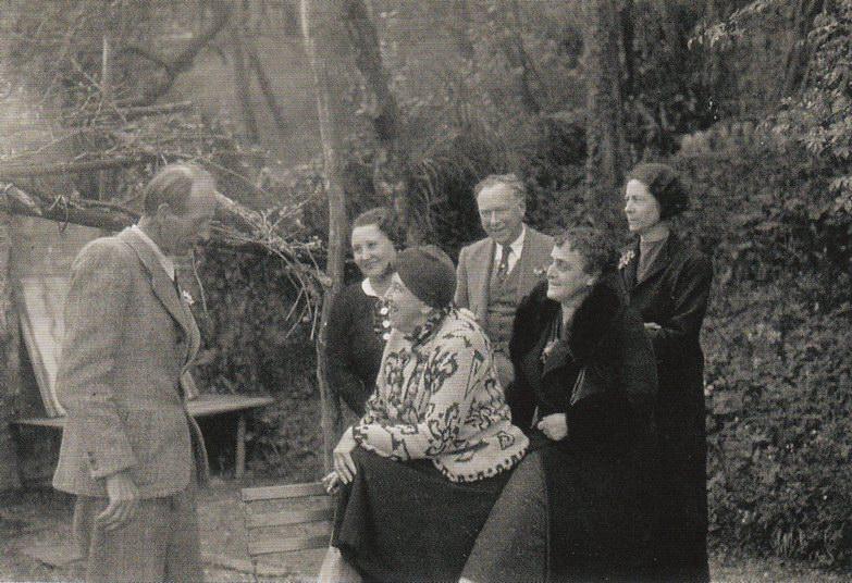 Швейцарский художник Ernst Frick, певица Carmen Hagmann, художник Albert Kohler, Frau Kohler (сестра Эрнста Фрика), 1929