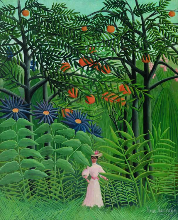 Resize of Woman-Walking-in-an-Exotic-Forest-Henri-Rousseau-French-1844–1910-Woman-Walking-in-an-Exotic-Forest-Femme-se-promenant-dans-un-forêt-exotiq…