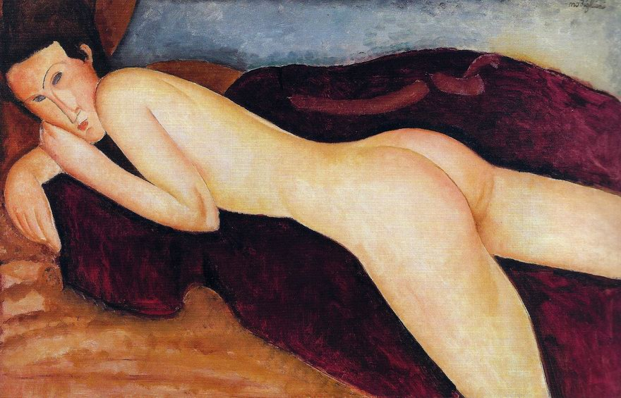 Amedeo Modigliani - Reclining Nude from the Back, 1917.jpg
