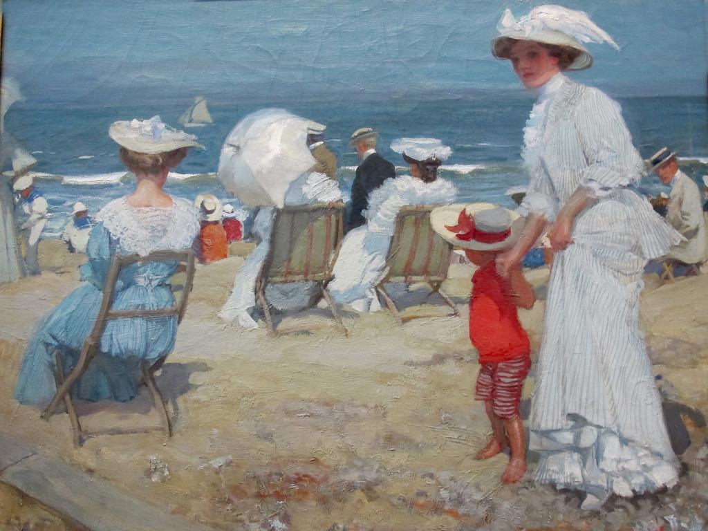 Sur la plage (1907), Charles Hoffbauer.jpg
