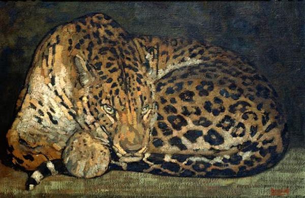 Paul Jouve (1878-1973)  Panthere au repos (1920).jpg