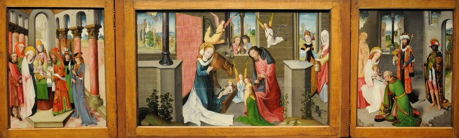 Scenes from the Life of Christ Master of the Wenemaertriptych 1480.JPG