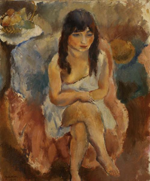 Seated Figure (Jeune fille assise) 1914