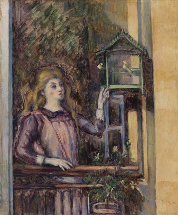 Girl with Birdcage 1888