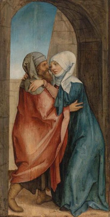 Hans von Kulmbach 1510 - 1520 Meeting of Joachim and Anna at the Golden Gate