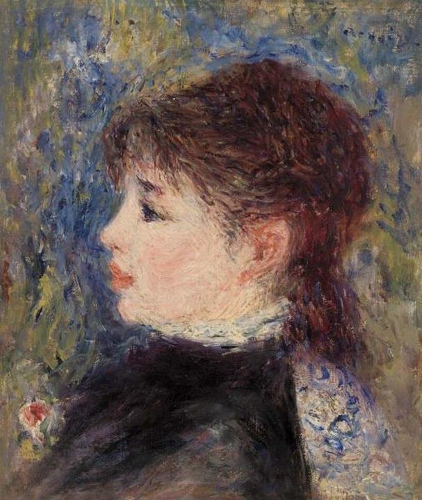 Resize of (Jeune fille a la rose) 1877
