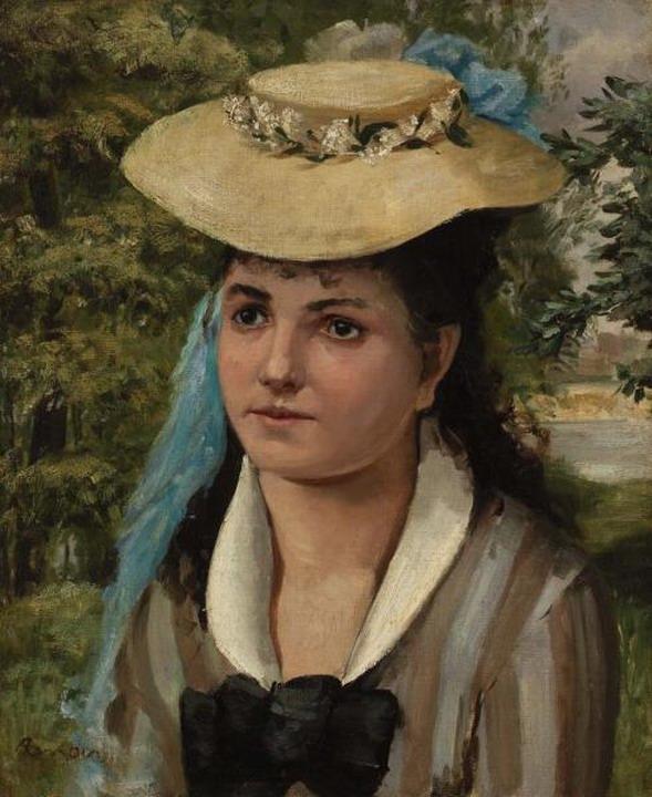 Resize of (Jeune fille au chapeau de paille) 1866